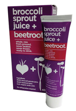 succo di germogli di broccolo e barbabietola
